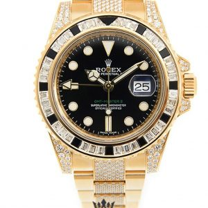 Rolex GMT Master Replica 116758 Yellow Gold Strap 40MM