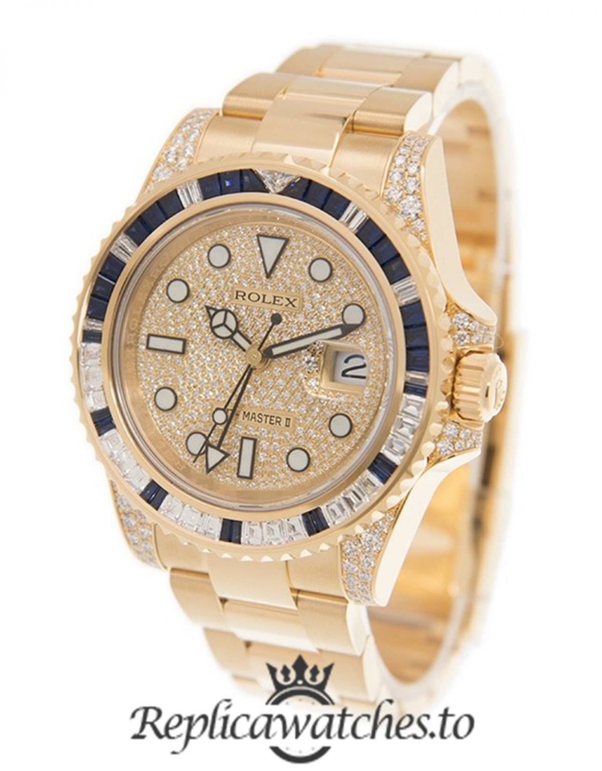 Rolex GMT Master Replica 116758 SA Yellow Gold Strap 40MM