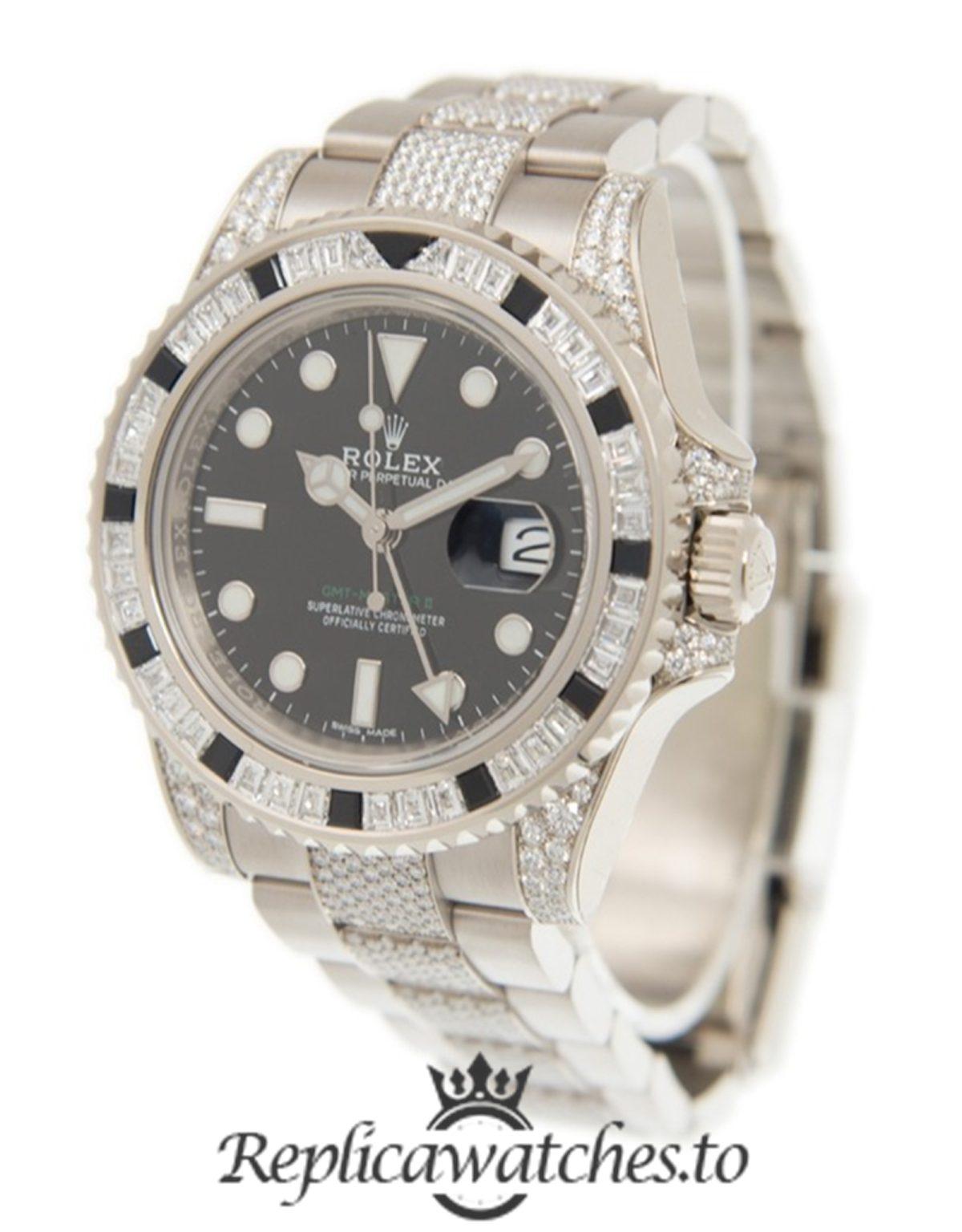 Rolex GMT Master Replica 116759 BKSABK Diamond Strap 40MM