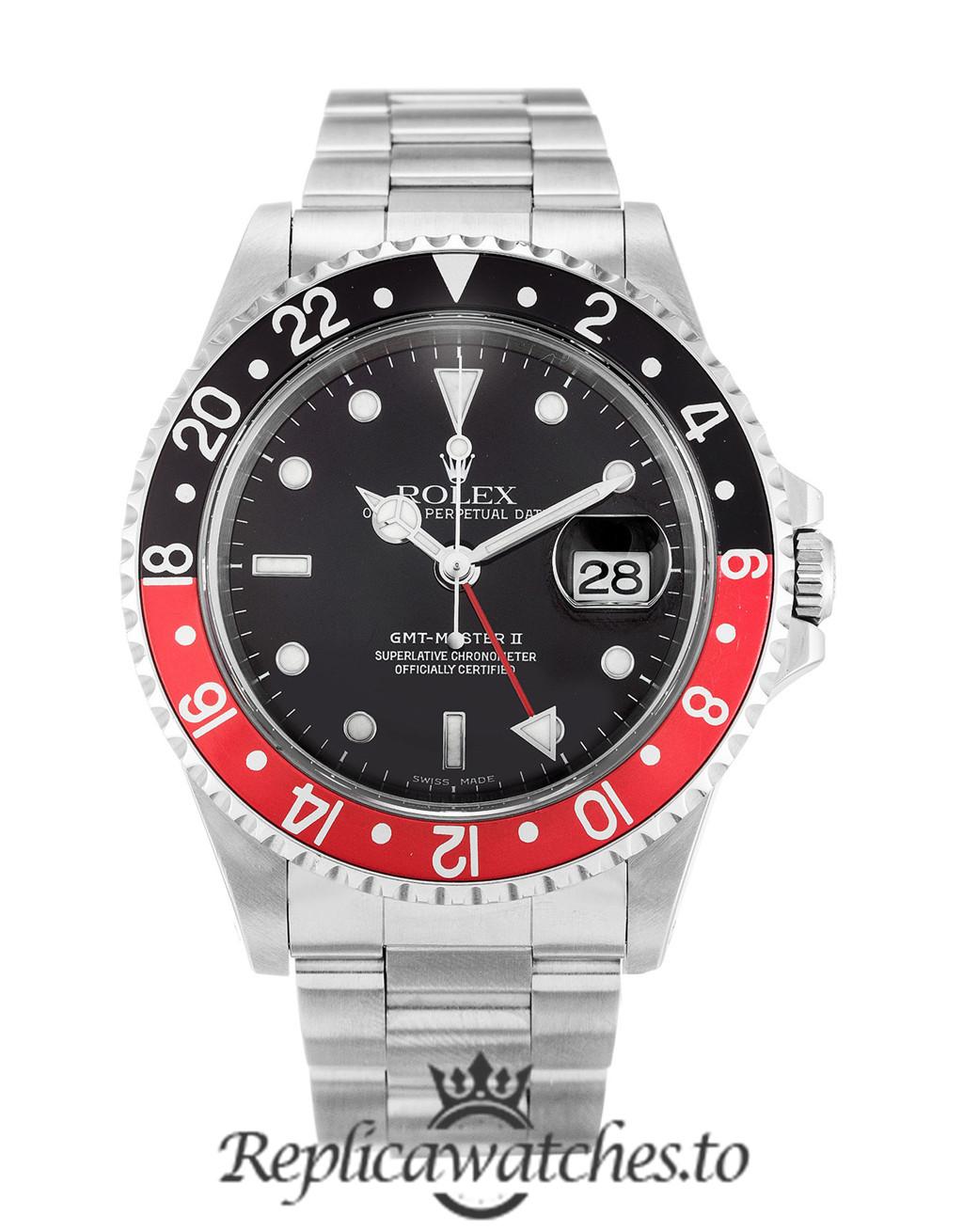Rolex GMT Master Replica 16710 001 Black & Red Bezel 40MM
