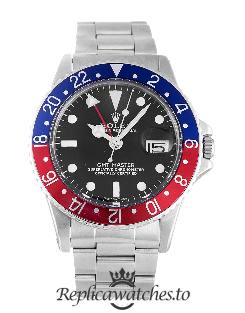 Rolex GMT Master Replica 1675 001 Silver Strap 40MM