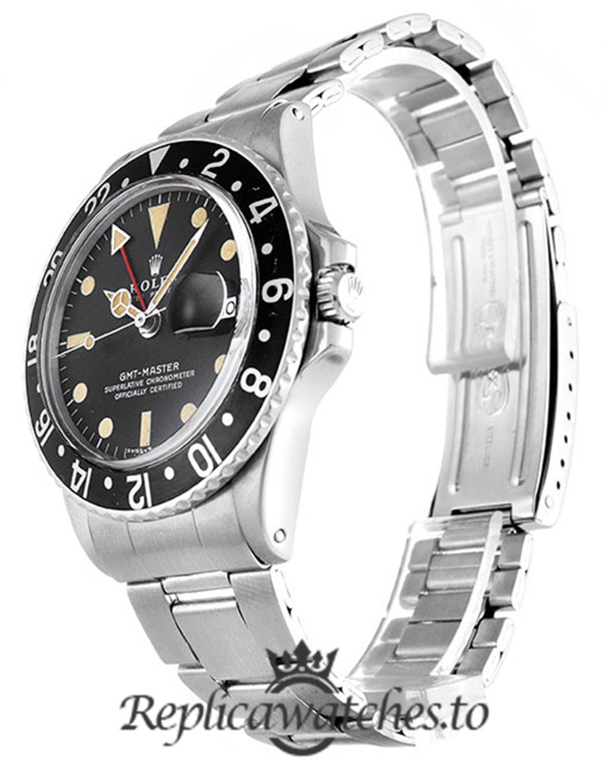 Rolex GMT Master Replica 1675 Silver Gold Strap 40MM