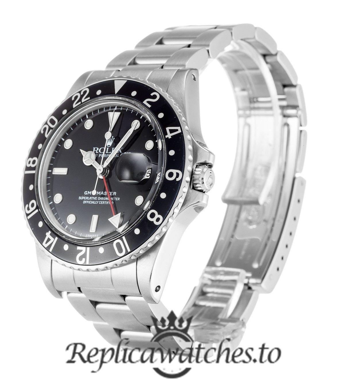 Rolex GMT Master Replica 16750 Silver Gold Strap 40MM