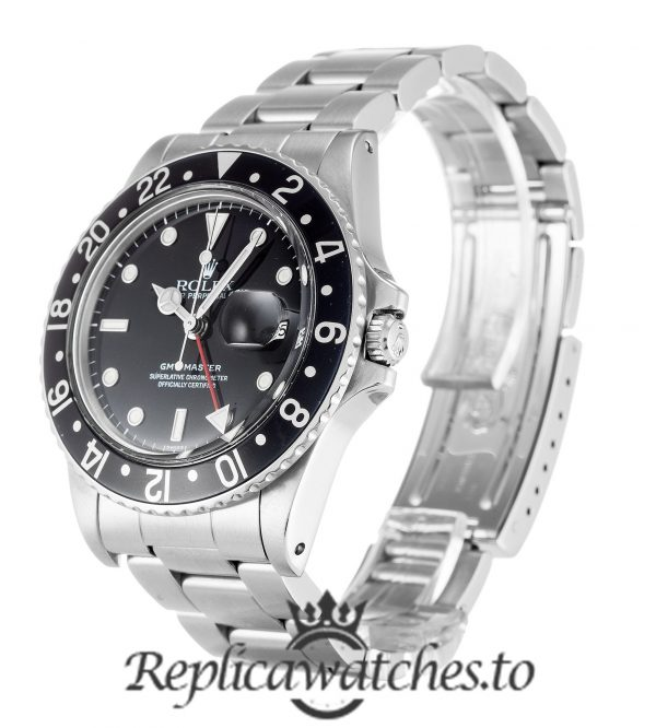 Rolex GMT Master Replica 16750 Silver Gold Strap 40MM