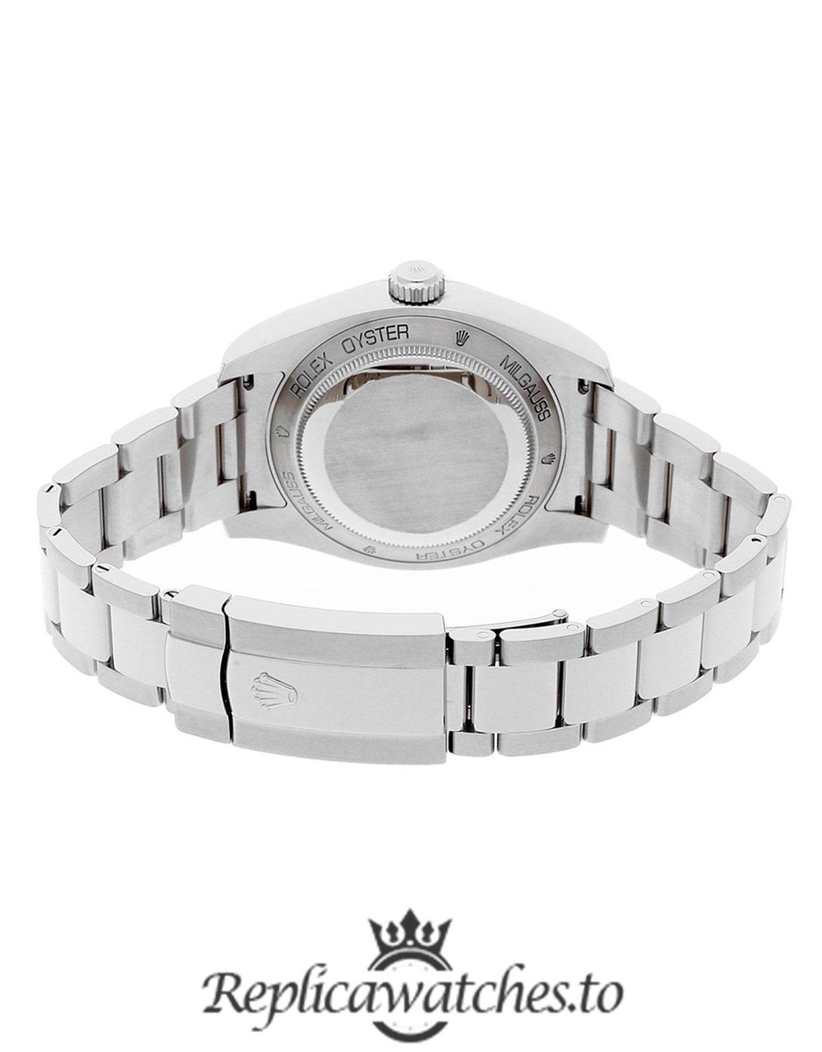 Rolex Milgauss Replica 116400GV Silver Strap 40MM