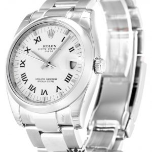 Rolex Oyster Perpetual Replica 115200 001 Silver Strap 34MM