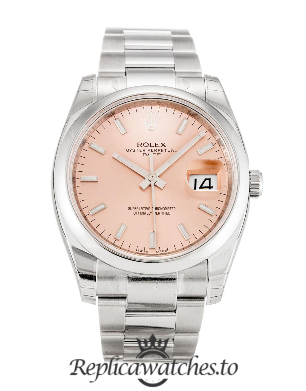 Rolex Oyster Perpetual Replica 115200 Silver Strap 34MM