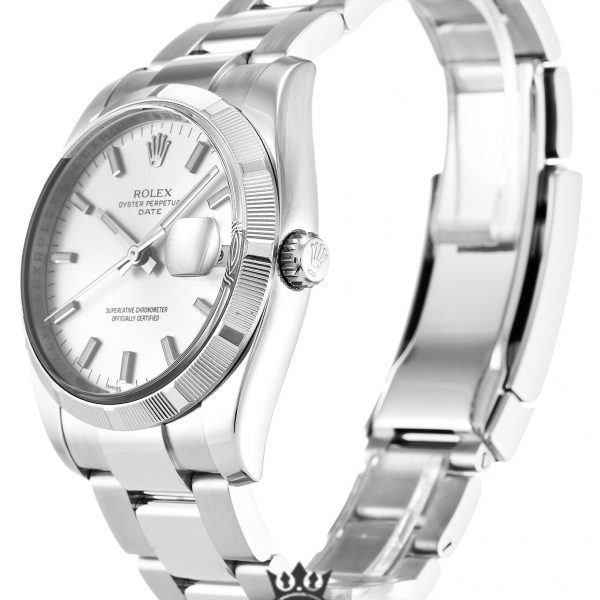 Rolex Oyster Perpetual Replica 115210 001 Silver Strap 34MM