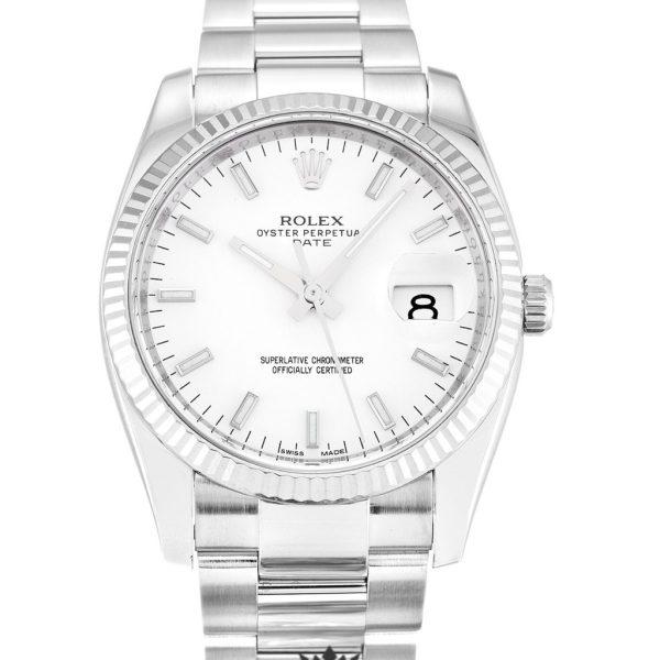 Rolex Oyster Perpetual Replica 115234 Silver Strap 34MM