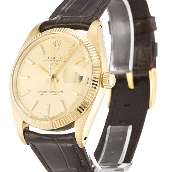 Rolex Oyster Perpetual Replica 1503 Brown Strap 33MM