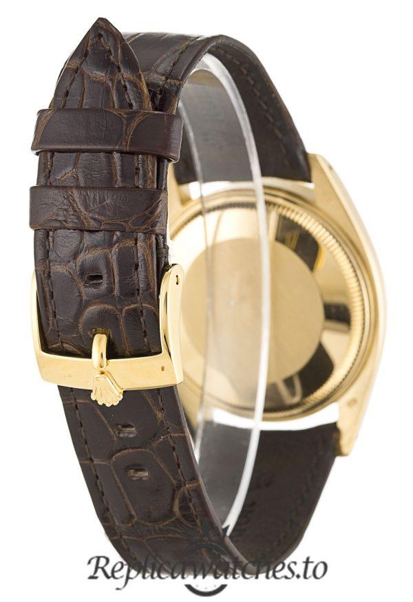 Rolex Oyster Perpetual Replica 1503 Brown Strap 33MM