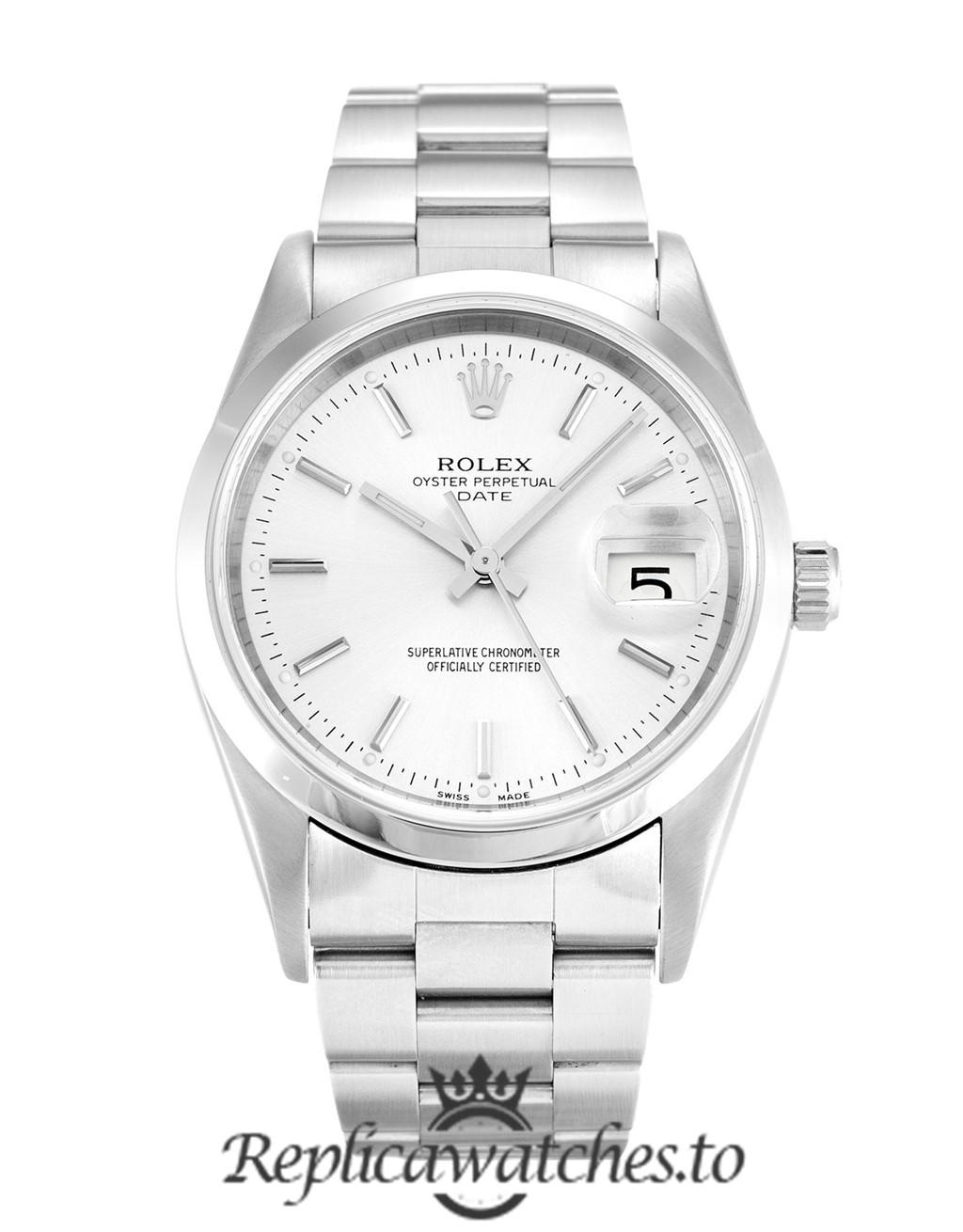 Rolex Oyster Perpetual Replica 15200 002 Silver Strap 34MM