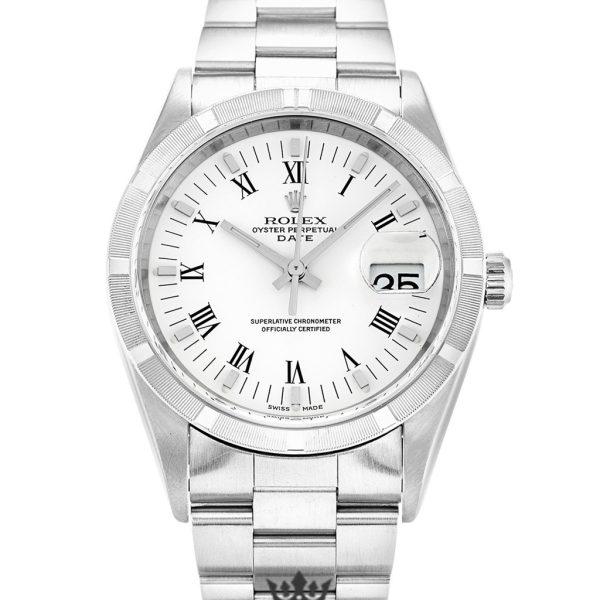 Rolex Oyster Perpetual Replica 15210 002 Silver Strap 34MM