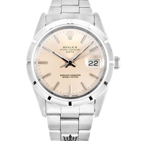 Rolex Oyster Perpetual Replica 15210 003 Silver Strap 34MM