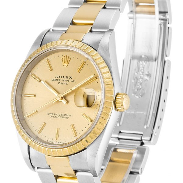 Rolex Oyster Perpetual Replica 15223 001 Yellow Gold Bezel 34MM