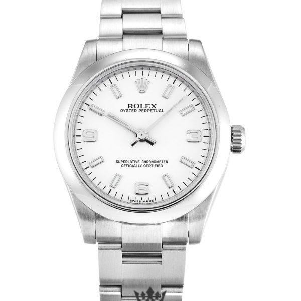 Rolex Oyster Perpetual Replica 177200 007 Silver Strap 31MM