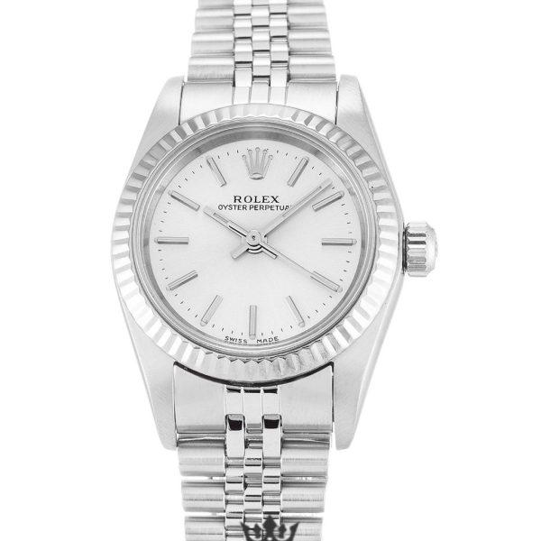 Rolex Oyster Perpetual Replica 76094 001 Silver Strap 26MM