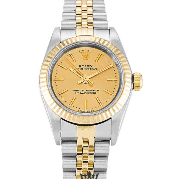 Rolex Oyster Perpetual Replica 76193 Yellow Gold Bezel 24MM