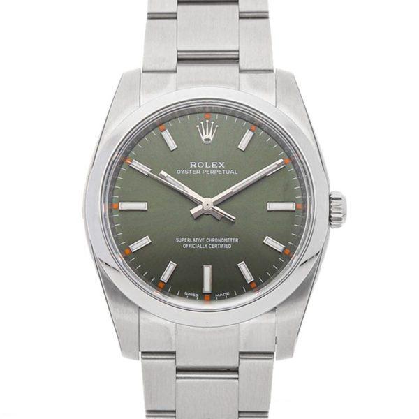 Rolex Oyster Perpetual Date Replica 114200 Green Dial 34MM