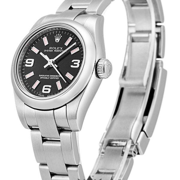 Rolex Oyster Perpetual Date Replica 176200 001 Silver Strap 26MM