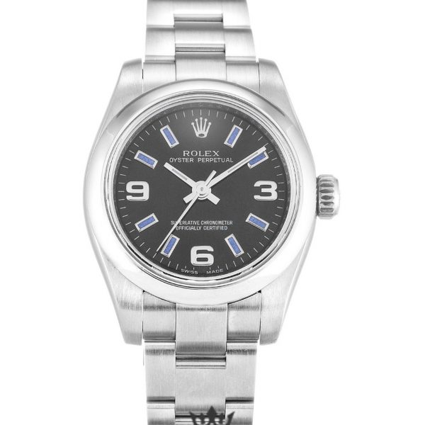 Rolex Oyster Perpetual Date Replica 176200 Silver Strap 26MM