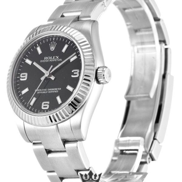 Rolex Oyster Perpetual Date Replica 177234 Silver Strap 31MM