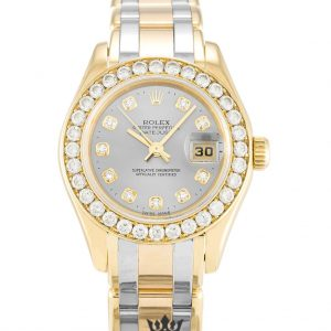 Rolex Pearlmaster Replica 80298 Diamonds Bezel 29MM
