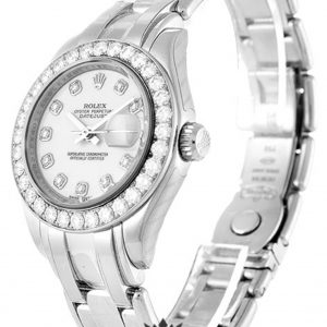 Rolex Pearlmaster Replica 80299 White Gold Strap 29MM
