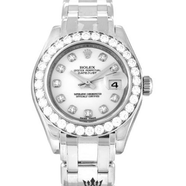 Rolex Pearlmaster Replica 80299 White Gold Strap 29MM