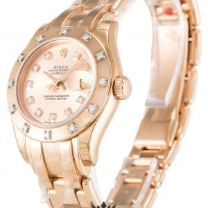 Rolex Pearlmaster Replica 80315 Rose Gold Strap 29MM