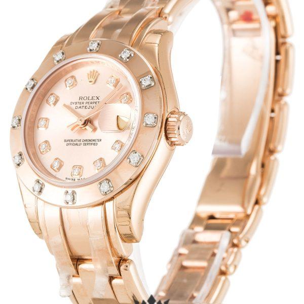Rolex Pearlmaster Replica 80315 Rose Gold Strap 29MM