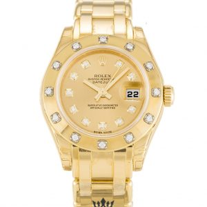 Rolex Pearlmaster Replica 80318 001 Yellow Gold Strap 29MM