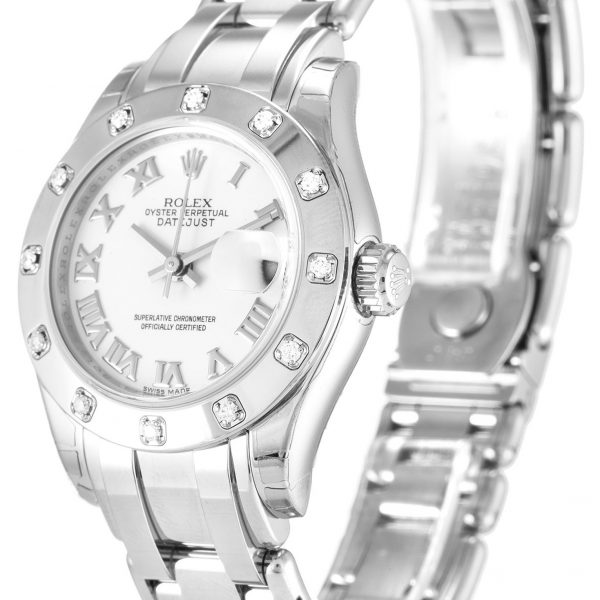 Rolex Pearlmaster Replica 80319 Diamond Bezel 29MM