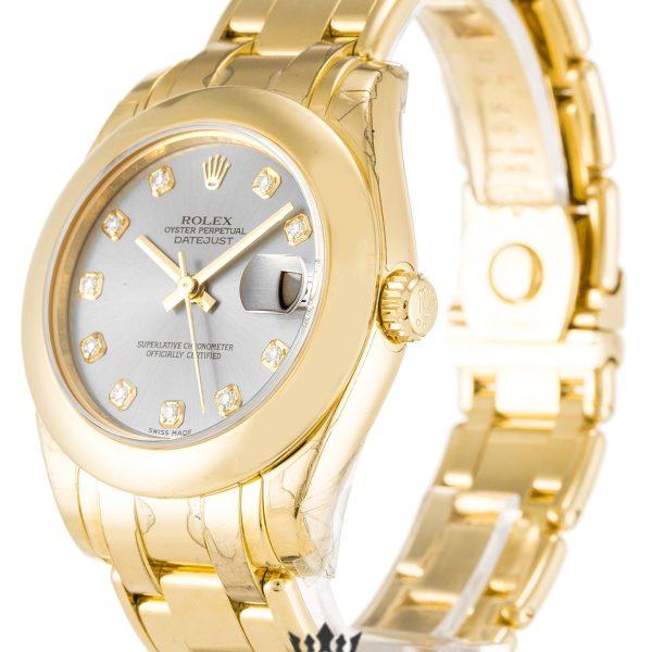 Rolex Pearlmaster Replica 81208 Yellow Gold Strap 31MM