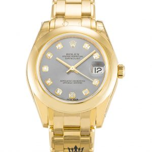 Rolex Pearlmaster Replica 81208 Yellow Gold Strap 31MM