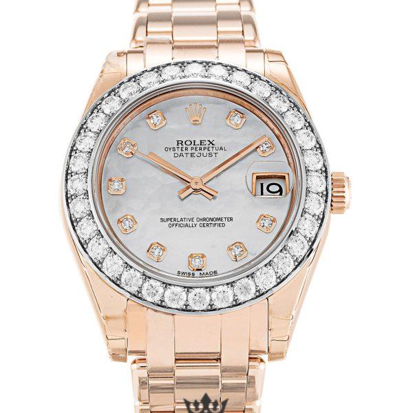 Rolex Pearlmaster Replica 81285 Diamonds Bezel 34MM