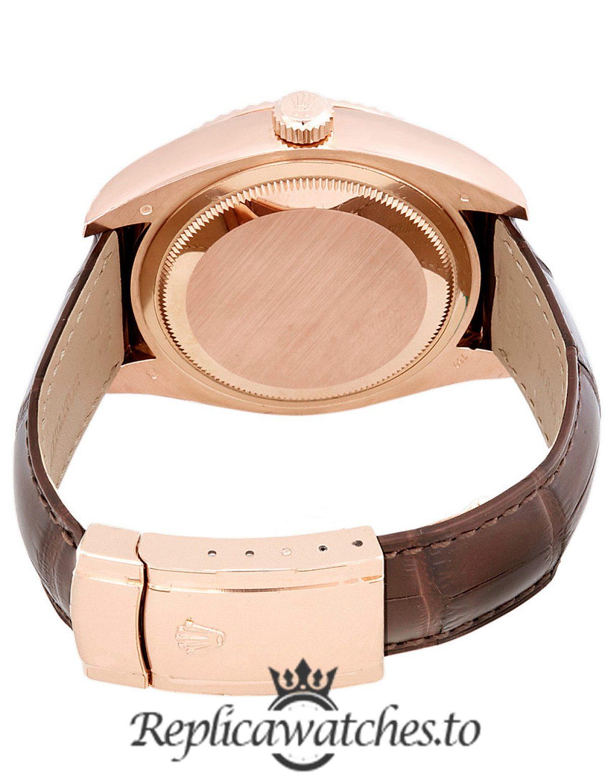 Rolex Sky Dweller Replica 326135SNRL Brown Strap 42MM
