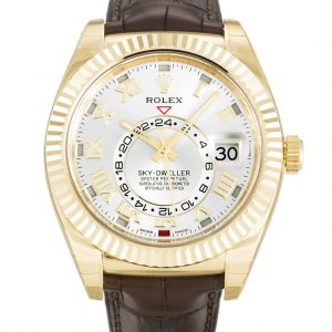 Rolex Sky Dweller Replica 326138 Brown Strap 42MM