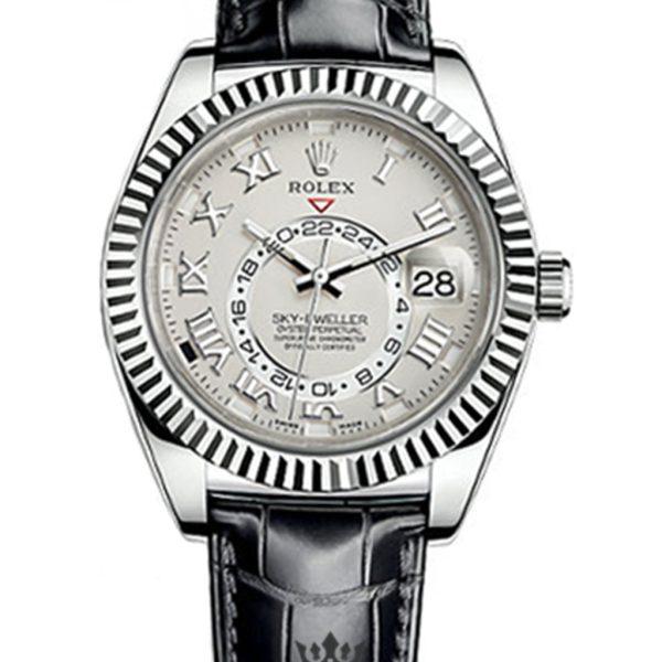 Rolex Sky Dweller Replica 326139 001 Black Strap 42MM