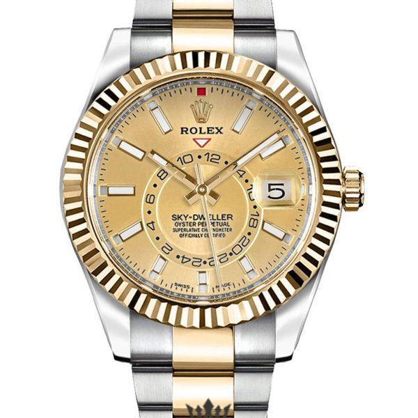 Rolex Sky Dweller Replica 326933 002 Yellow Gold Bezel 42MM