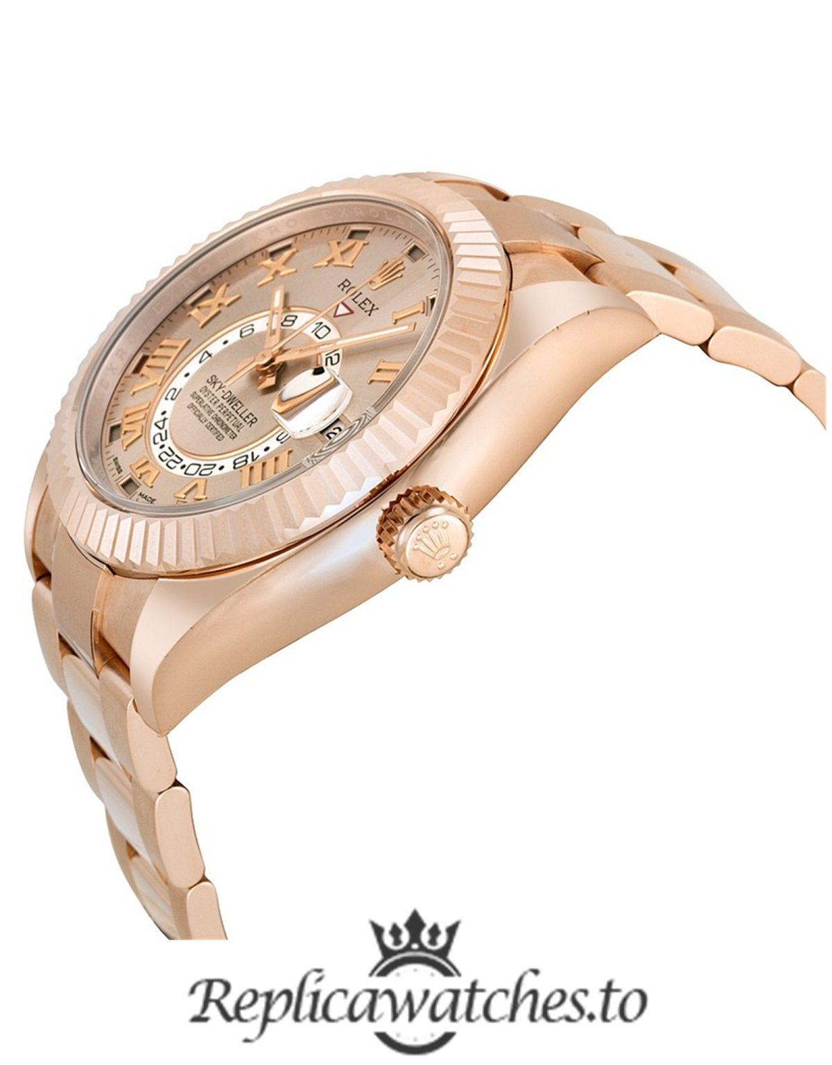 Rolex Sky Dweller Replica 326935 Rose Gold Bezel 42MM