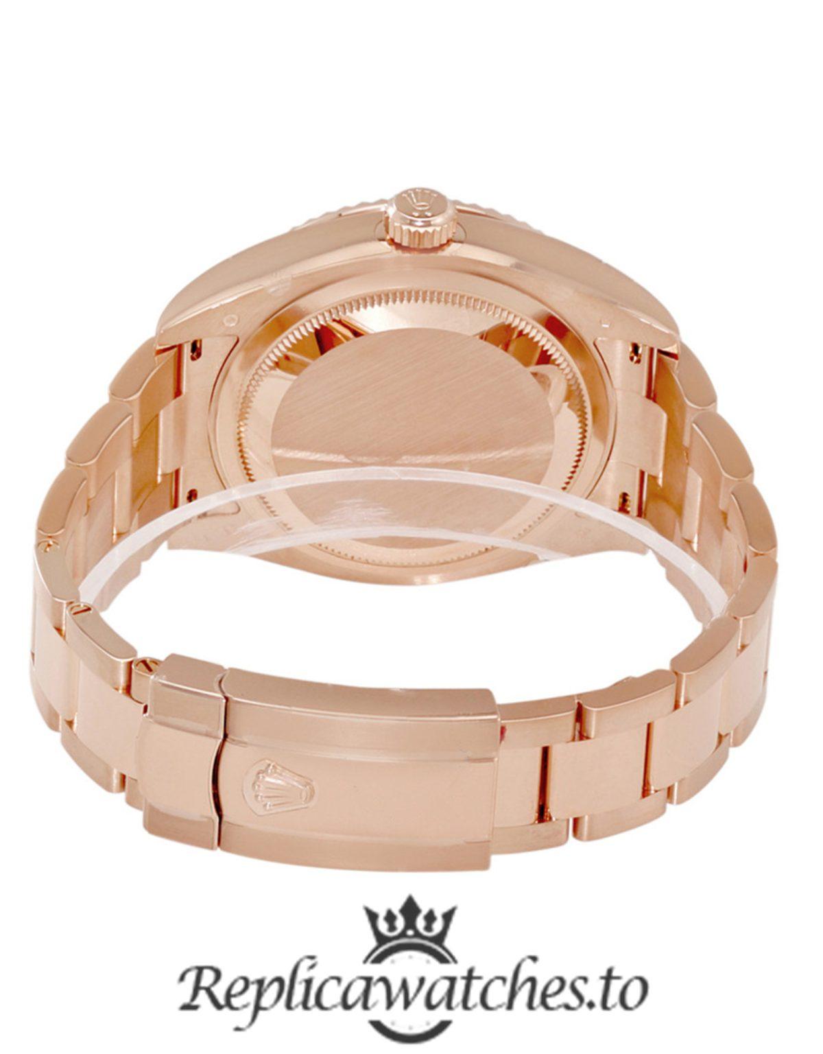 Rolex Sky Dweller Replica 326935CHAO Rose Gold Strap 42MM