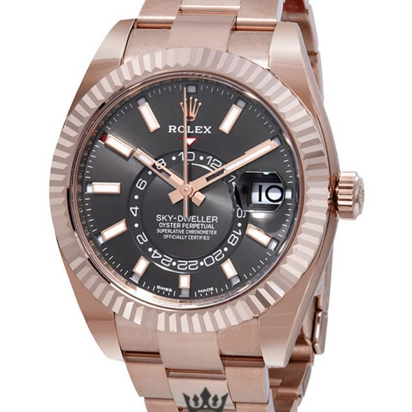 Rolex Sky Dweller Replica 326935DRSO Rose Gold Strap 42MM