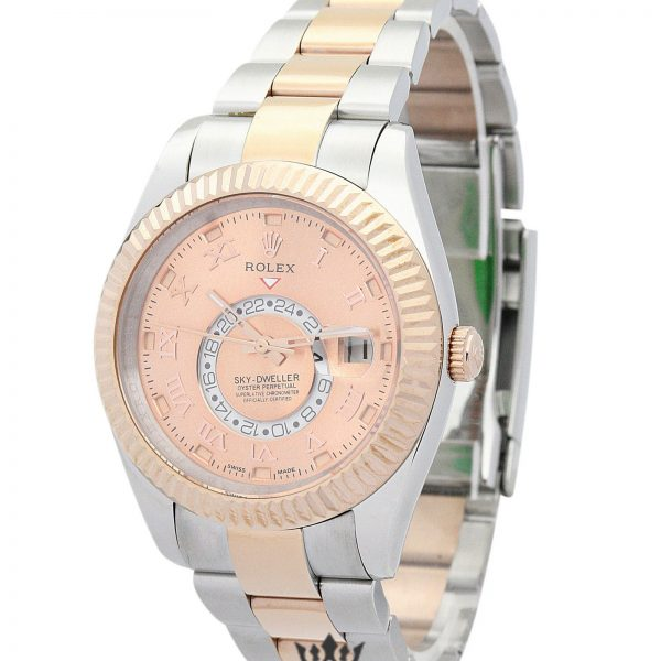 Rolex Sky Dweller Replica 326938 001 Rose Gold Bezel 42MM