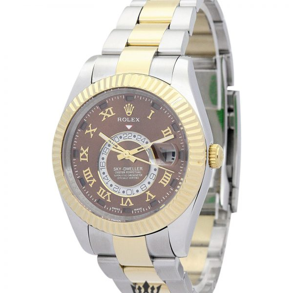 Rolex Sky Dweller Replica 326938 003 Yellow Gold Bezel 42MM
