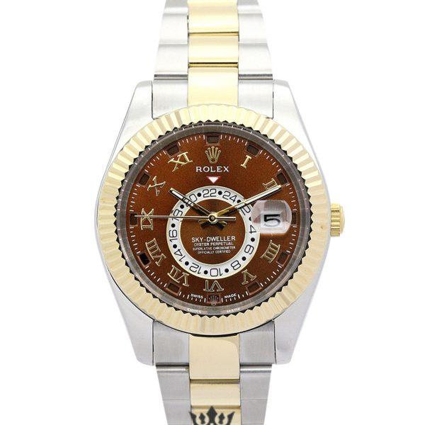 Rolex Sky Dweller Replica 326938 003 Yellow Gold Bezel 42MM