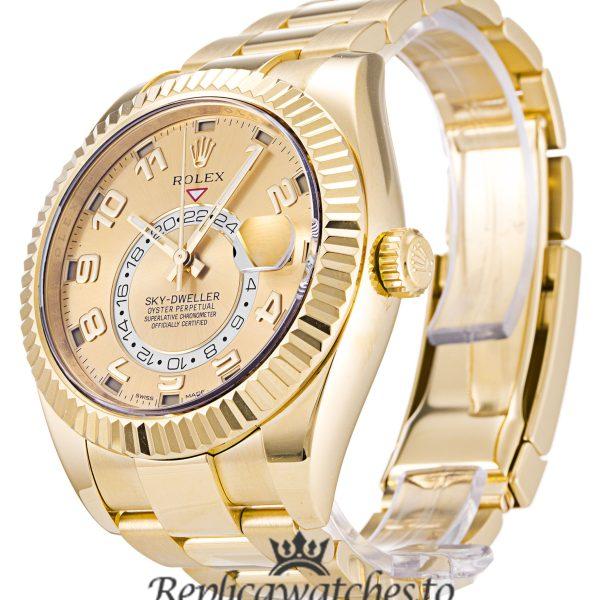 Rolex Sky Dweller Replica 326938 004 Yellow Gold Bezel 42MM