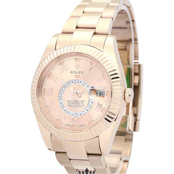Rolex Sky Dweller Replica 326938 009 Rose Gold Strap 42MM