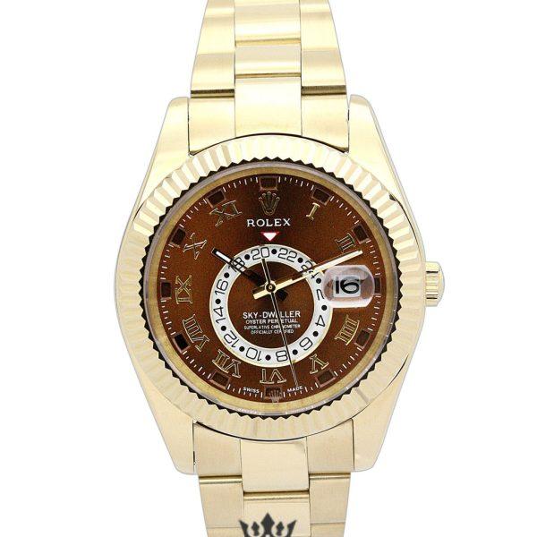 Rolex Sky Dweller Replica 326938 010 Yellow Gold Strap 42MM