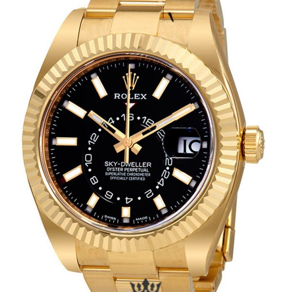 Rolex Sky Dweller Replica 326938CSO Yellow Gold Bezel 42MM